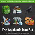 Thumb - 10 ícones acadêmicos em PSD