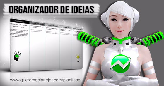 Cover - Planilha - Organizador de Ideias! (DOWNLOAD)