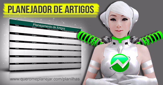 Cover - Planejamento de Artigos para Blogs! (DOWNLOAD)