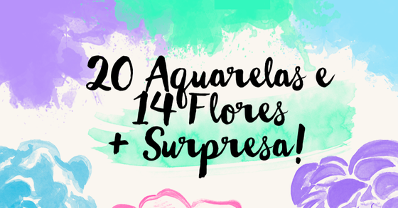 Cover - Freebie: Aquarela e Flores + Surpresa