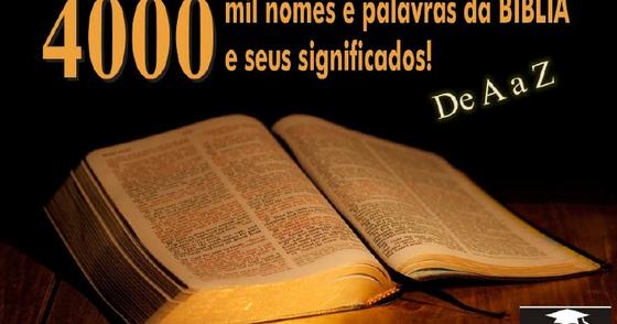 Cover - 4000 nomes e palavras da Bíblia e seus significados.