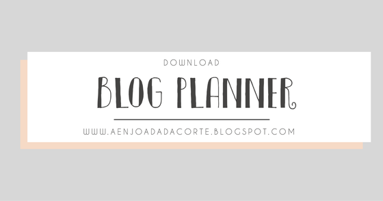 Cover - Blog Planner - A Enjoada da Corte