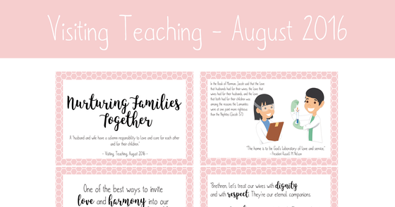 Cover - Printable Visiting Teaching Message - August 2016