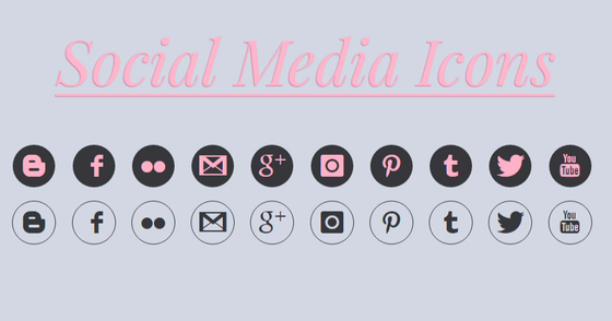 Cover - Social Media Icons