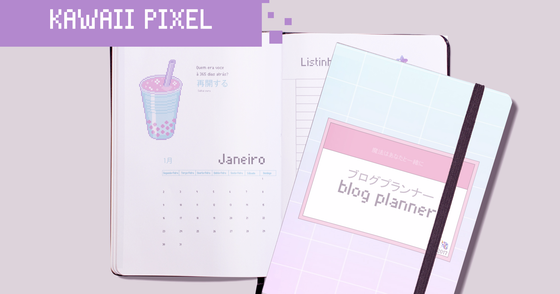 Cover - Blog Planner: Kawaii Pixel