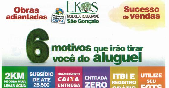 Cover -  Ekos monjolos aptos  de 118.000,00 sem custos adicionais