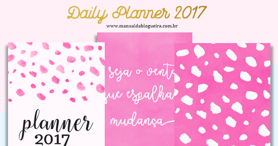 Cover - Daily Planner 2017 para baixar
