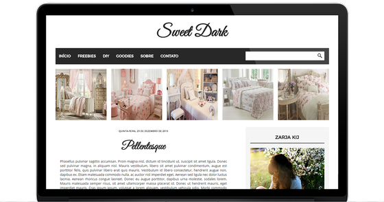 Cover - Template Sweet Dark by Templates Inspirate