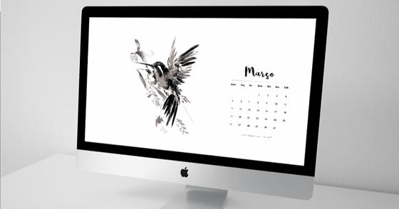 Cover - Calendário de Março p/ Desktop