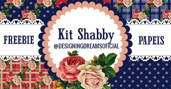 Cover - Kit Digital Shabby Chic Grátis