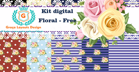 Cover - Kit digital floral 3 + bordas