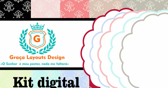 Cover - Kit digital papel e frames vintage
