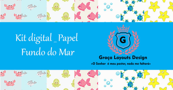 Cover - Kit digital papel fundo do mar