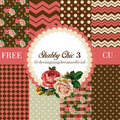 Thumb - Kit de papeis digitais e frame shabby chic 3 Freebie