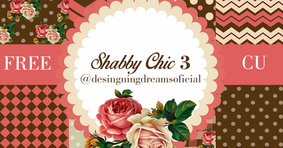 Cover - Kit de papeis digitais e frame shabby chic 3 Freebie
