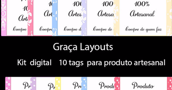 Cover - Kit digital tags para produtos artesanal
