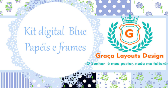 Cover - Kit digital - papel Blue