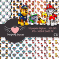 Thumb - Kit digital Patrulha Canina 40 papeis jpg + de 60 cliparts png