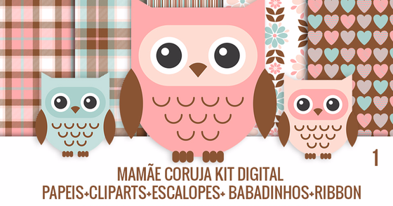 Cover - kit digital Mamãe coruja