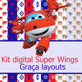 Thumb - Kit digital papel Super Wings