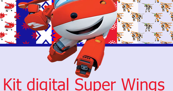 Cover - Kit digital papel Super Wings