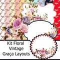 Thumb - Kit  Digital Floral Vintage