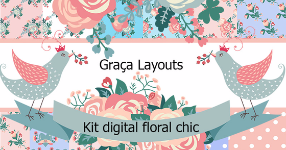 Cover - Kit digital Floral chic