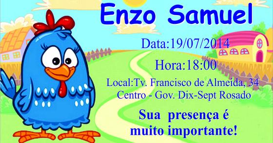 Cover - Convite Galinha Pintadinha