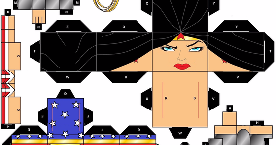 Cover - PaperToy Mulher Maravilha