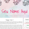 Thumb - Layout Aquarela e Rosas