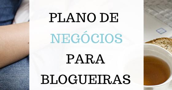 Cover - Plano de negócios para blogueiras