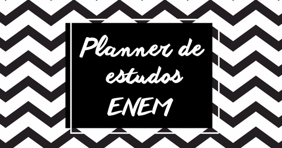 Cover - Planner de Estudos do ENEM