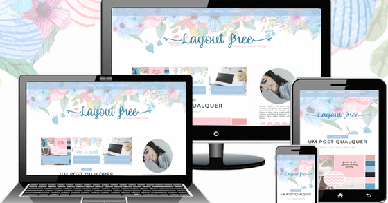 Cover - Layout free - Rose and Blue