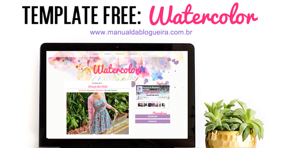 Cover - TEMPLATE FREE - Watercolor