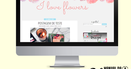 Cover - LAYOUT FREE - I Love Flowers (Versão2)
