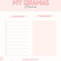 Thumb - Freebie: Planner meus dramas
